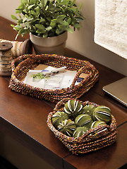 ANNIE'S SIGNATURE DESIGNS: Terrific Trays Knit Pattern