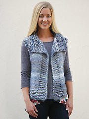 ANNIE'S SIGNATURE DESIGNS: Big Time Vest Knit Pattern