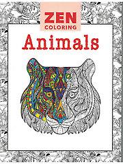 Zen Coloring: Animals Coloring Book
