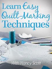 Learn Easy Quilt-Marking Techiques