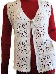 Snowflake Motif Vest