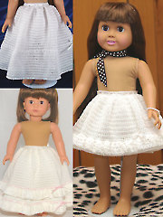 "Long & Short of It -- Petticoats for 18"" Dolls"
