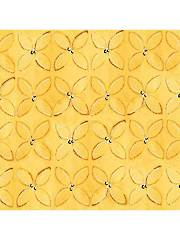 Wild Things Yellow Geometric 1 Yard Cut