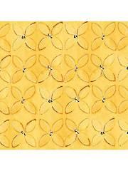 Wild Things Yellow Geometric - 1 Yard Cut
