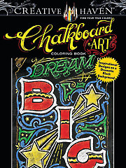 Creative Haven Chalkboard Art Coloring Book