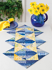 Triangle Illusions Table Runner Pattern