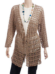 Cut-Diamond Cardigan