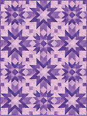 Orion's Belt Amethyst Quilt Kit