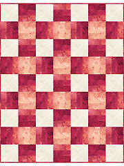 Over & Under Red Quilt Kit
