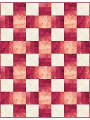 Over & Under Red Quilt Kit