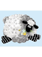 "Lewe, the Ewe Playmat Panel - 44"" x 36"""