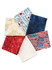 Land of the Free Fat Quarters - 6/pkg.