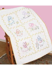 Sunbonnet Sue Prestamped Lap Quilt Top