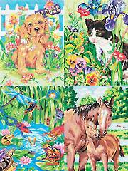 Animal Friends Pencil by Number Set