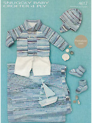 Sirdar Snuggly Baby Crofter 4-Ply 4617: Baby Boy Knit Set
