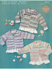 Sirdar Snuggly Baby Crofter 4-Ply 4619: Trio Knit of Cardigans