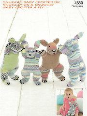 Sirdar Snuggly Baby Crofter DK 4630: Bunny Buddies Knit Pattern