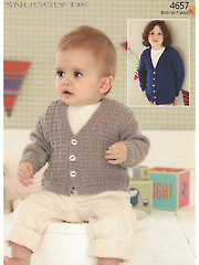 Sirdar Snuggly DK 4657: V Neck Cardigan Knit Pattern