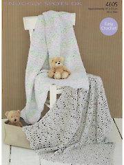 Sirdar Snuggy Spots DK 4605: Baby Blanket Crochet Pattern