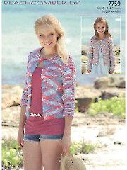 Sirdar Beachcomber DK 7759: Cardigan Knit Pattern