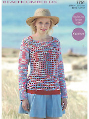 Sirdar Beachcomber DK 7761: Top Crochet Pattern