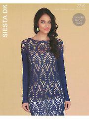 Sirdar Hayfield Siesta DK 7719: Tunic Crochet Pattern