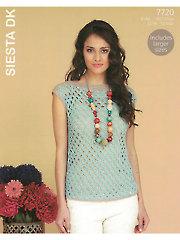 Sirdar Hayfield Siesta DK 7720: Top Crochet Pattern