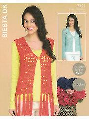 Sirdar Hayfield Siesta DK 7721: Waistcoat & Cardigan Crochet Pattern