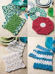 Scrubby Dishcloths Crochet Pattern