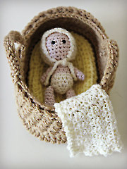 Bassinet Baby Playset Crochet Pattern