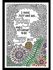 Zenbroidery� Be Happy Picture Stamped Embroidery