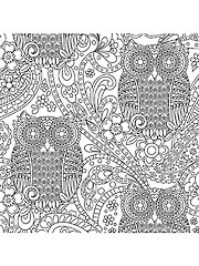 What a Hoot Coloring Fabric - 1 Yard Cut