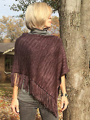 Fringe Benefits Poncho Knit Pattern