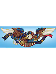 Liberty & Justice Eagle Plastic Canvas Kit
