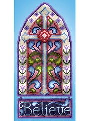 Stained Glass Cross Plastic Canvas Kit