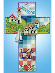 Nautical Cross Plastic Canvas  Kit