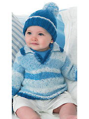 4116: Boys Sweater & Hat Knit Pattern