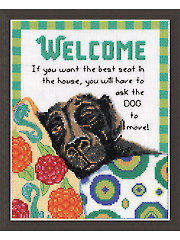Best Seat Welcome Cross Stitch Kit