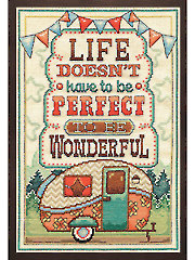 Life is Wonderful Cross Stitch Kit