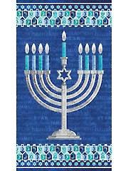 "Happy Hanukkah Panel - 24"" x 42"""