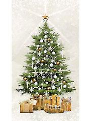 "White Christmas Glitter Panel - 24"" x 42"""