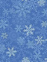 Light Blue Snowflakes 1-Yard Cut