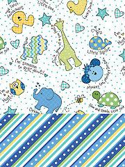 Little One Flannels Blue 1-Yard Cuts - 2/pkg.