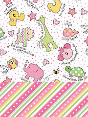 Little One Flannels Pink 1-Yard Cuts - 2/pkg.