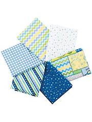 Little Ones Flannels Blue Fat Quarters - 6/pkg.