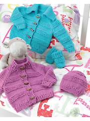 3707: Jacket, Hat & Mittens Knit Patterns