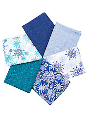 Winter Frost Blue Fat Quarters - 6/pkg.