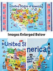 """USA Map Panel - 24"""" x 43"""""""