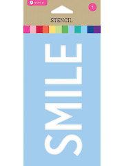 """Smile Stencil - 3.5"""" x 6"""""""