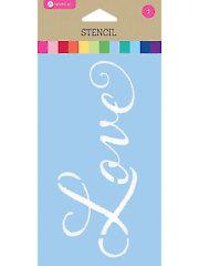 """Love Stencil - 3.5"""" x 6"""""""